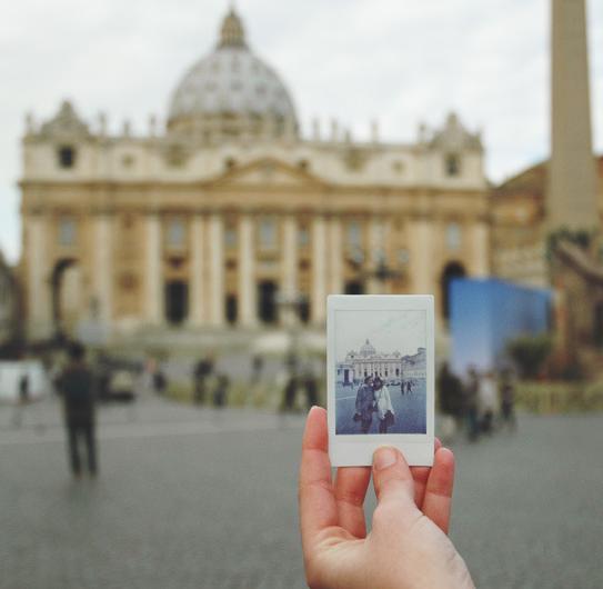 Ricordi di viaggio personalizzati: Polaroid scattata a Roma
